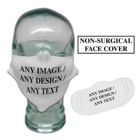 Personalised Any Image / Any Text Face Cover Mask Washable Reusable Breathable